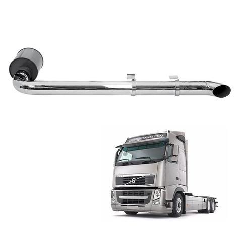 Imagem de Kit Escapamento Volvo Vm 260 (Truck) 2006/2011 4 Cromado Le