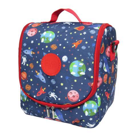 Imagem de Kit Escolar Infantil Galaxia Mochila G de rodinhas, Lancheira E Estojo