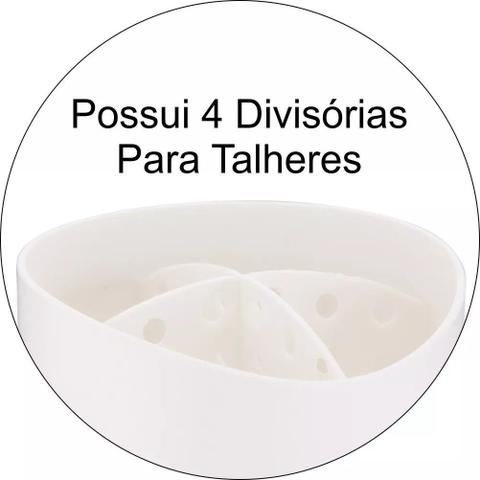 Imagem de Kit Escorredor Talheres, Lixeira 2,5l De Pia Cozinha Future