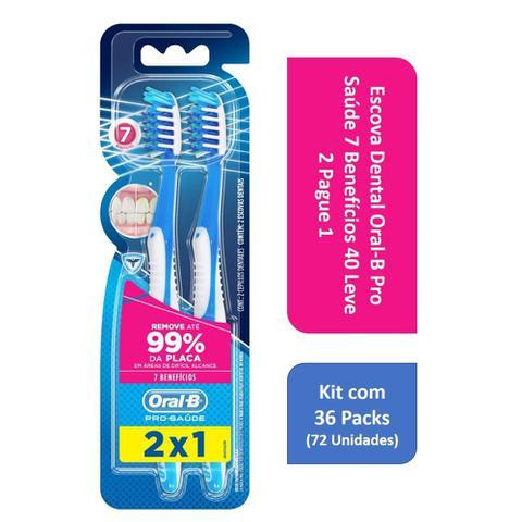 Imagem de Kit Escova Dental Oral-B Pro Saude 7 Beneficios 40 L2P1 com 36 Packs