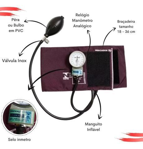 Imagem de Kit Esfigmomanometro + Estetoscopio Duplo