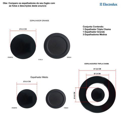 Imagem de Kit espalhadores para fogões tripla chama electrolux 5 bocas 76 grs