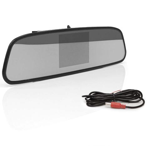 Imagem de Kit Espelho Retrovisor Monitor Tela LCD 4.3 + Câmera Ré