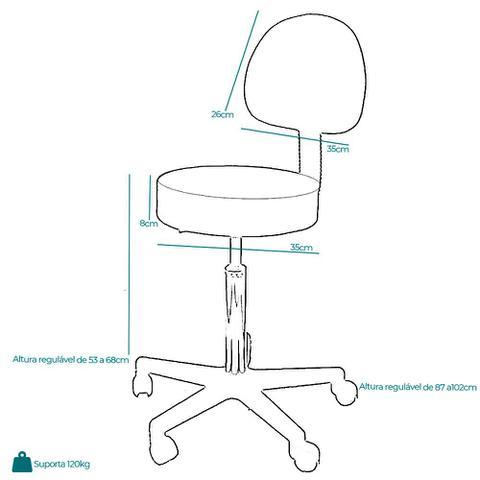 Imagem de Kit estética: maca fixa plus, carrinho, escadinha e cadeira mocho branca - audrey