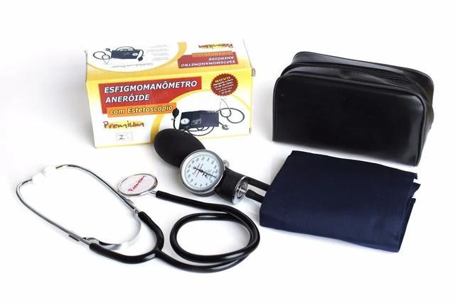 Imagem de Kit Estetoscópio + Aparelho De Pressão Arterial Premium