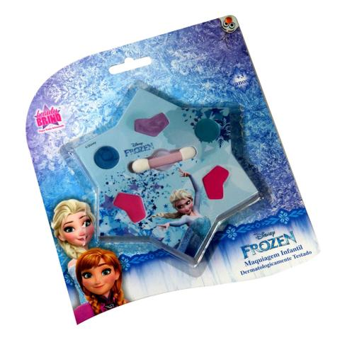 Imagem de Kit Estojo Frozen Batom Sombra Blush Maquiagem Infantil