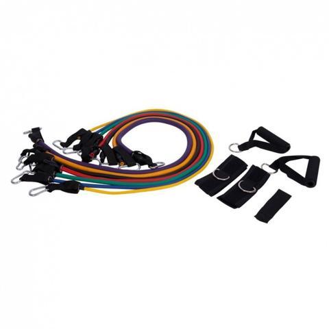 Imagem de Kit Extensor com 7 Elásticos para Exercícios de Fortalecimento - LIVEUP LS3634