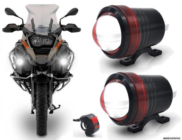 Imagem de Kit Farol de Milha Neblina LED Moto Universal