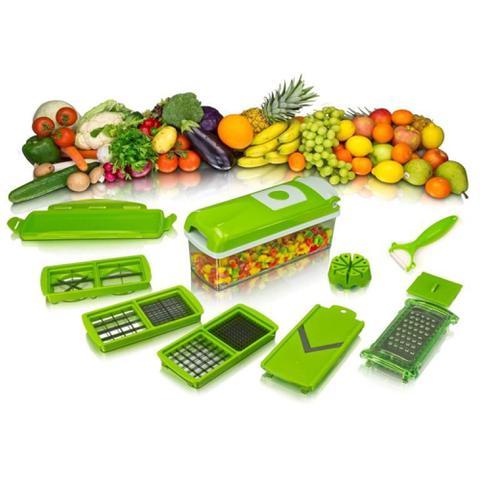 Imagem de Kit Fatiador Cortador De Legumes Plástico E Inox - Clink
