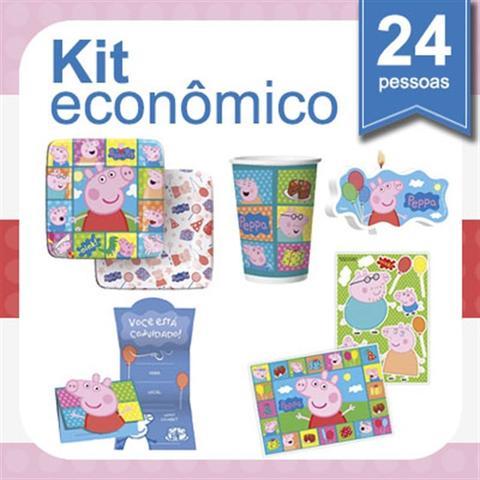 Imagem de Kit Festa Infantil Peppa Pig 24 pessoas Econômico