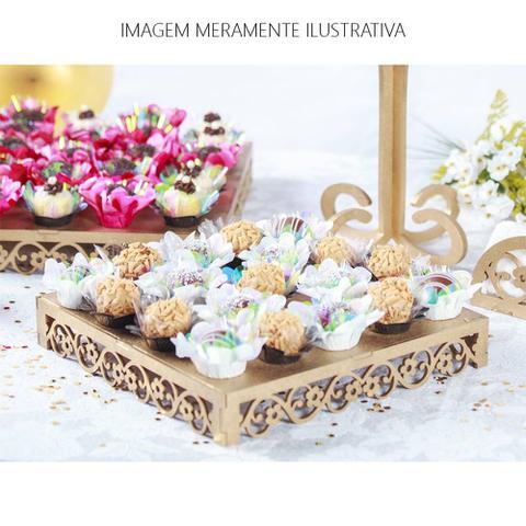 Imagem de Kit Festa Mdf Aniversário Floral 33 peças