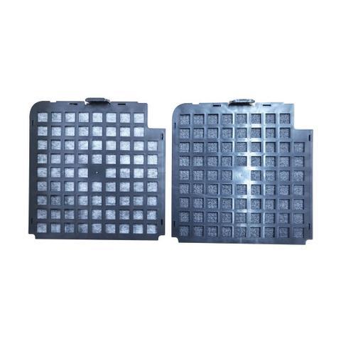 Imagem de Kit Filtro de Carvão Ativado para Coifas Nardelli Modelo CVC Slim - 02 Peças
