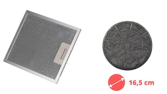 Imagem de Kit Filtro Tela + Filtro Carvão Depurador SLIM SUGGAR 27,8 x 31,6 cm
