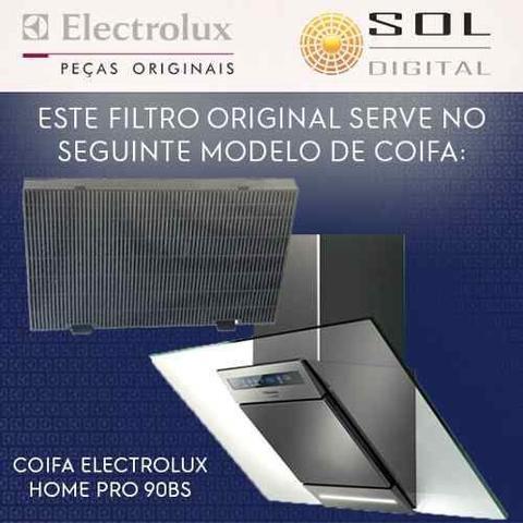 Imagem de Kit Filtros Coifa Electrolux Homepro 90bs: Carvao + Metálico