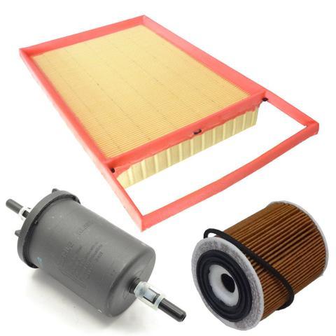 Imagem de Kit filtros de ar, óleo e combustível - Fiat Bravo Doblò Grand Siena Idea Linea Palio Punto Strada motores E-Torq - Mahl