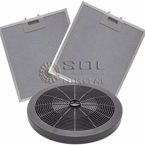 Imagem de KIT Filtros Depuradores Electrolux 60cm (4 Bocas): Carvão e Metálicos