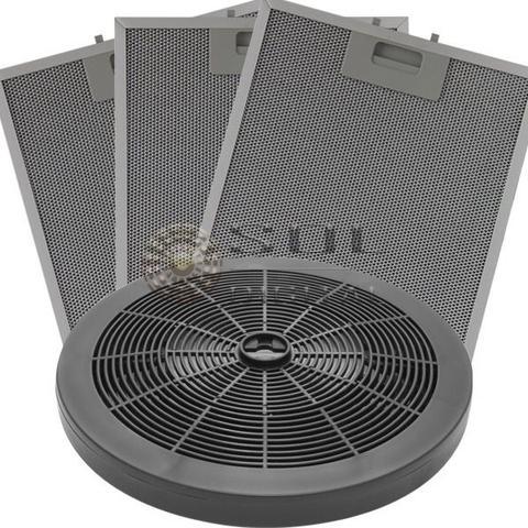 Imagem de Kit Filtros Depuradores Electrolux 80cm Carvão + Metálicos