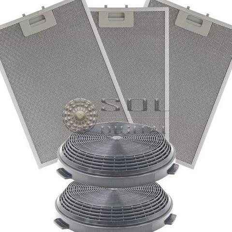 Imagem de Kit Filtros Metálico E Carvão P/ Coifa Ilha Electrolux 90cit