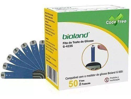 Imagem de Kit Fita Medição De Glicose G423s Bioland 3 Caixas 50 Fitas