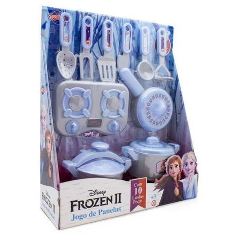Imagem de Kit Fogãozinho e Jogo de Panelas Infantil - Frozen 2 - Toyng