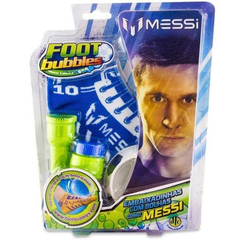 Imagem de Kit Foot Bubble Messi Meia Azul - Dtc