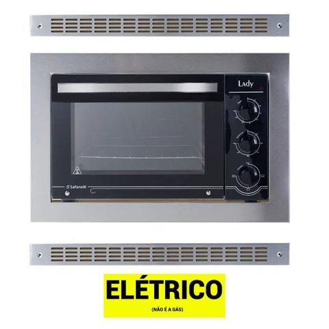 Imagem de Kit Forno De Embutir 45l + Cooktop 4 Bocas Preto Safanelli