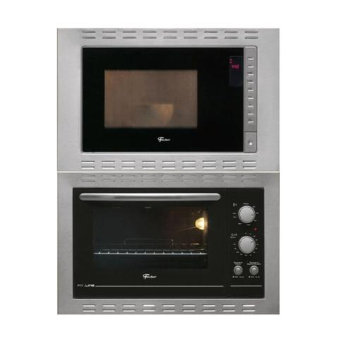 Imagem de Kit Forno Elétrico 44 L E Micro-Ondas com 8 Funções de Embutir em Aço Inox Fischer 127 V