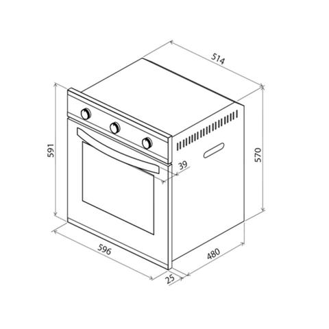 Imagem de Kit Forno Elétrico de Embutir 70 L + Micro-ondas de Embutir 25 L com 8 Funções 220 V Tramontina