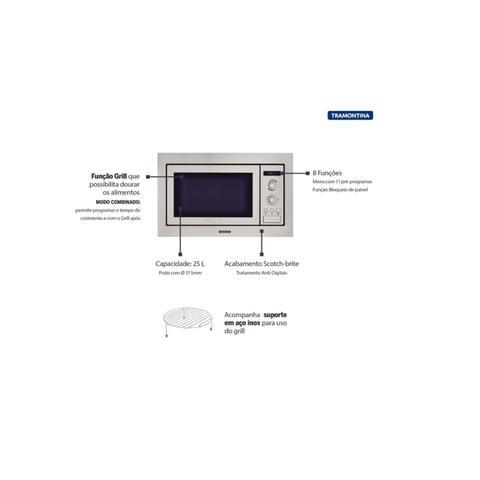 Imagem de Kit Forno Elétrico de Embutir 71 L com 7 Funções + Micro-ondas de Embutir 25 L com 8 Funções 220 V Tramontina