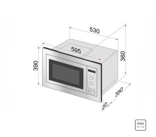 Imagem de Kit Forno Elétrico de Embutir 71 L + Micro-ondas de Embutir 25 L com 8 Funções 220 V Tramontina