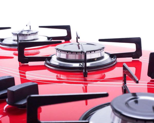 Imagem de Kit Forno Embutir Coifa Gourmet 90 Cooktop Vermelho Safanelli