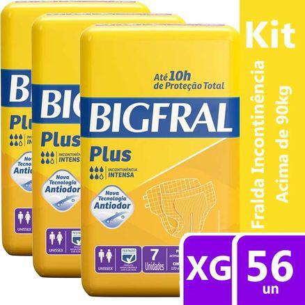 Imagem de Kit Fralda Geriátrica Bigfral Plus XG 56 unidades