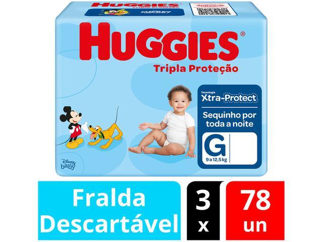 Imagem de Kit Fraldas Huggies Tripla Proteção Tam. G