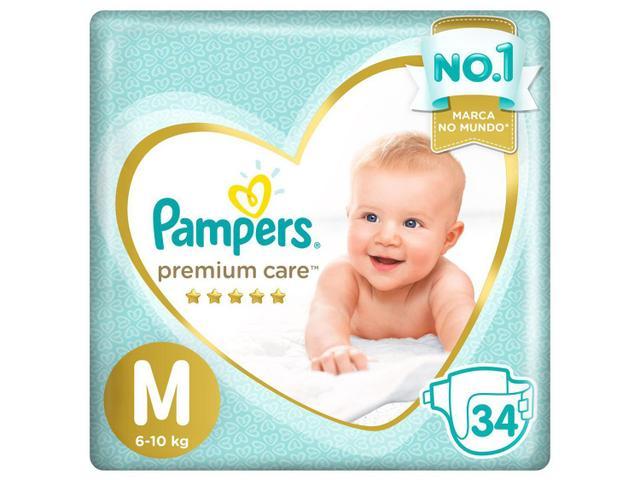 Imagem de Kit Fraldas Pampers Premium Care Tam. M