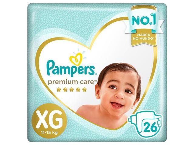 Imagem de Kit Fraldas Pampers Premium Care Tam. XG