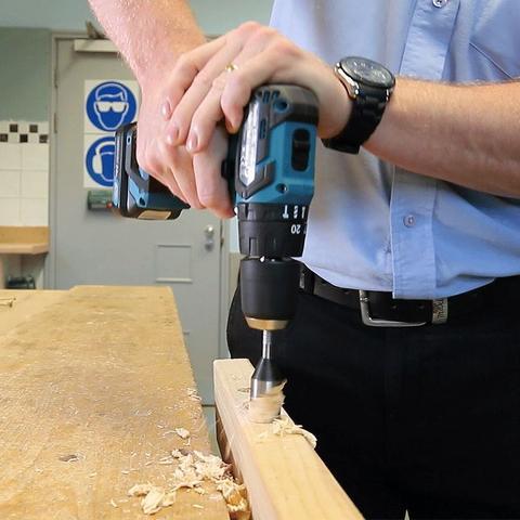 Imagem de Kit Furadeira de Impacto e Furaderia 10mm + Baterias Carregador Maleta - HP332DS