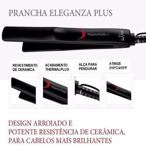 Imagem de Kit gama 127v - secador keration  2000w + prancha eleganza plus 210c bv