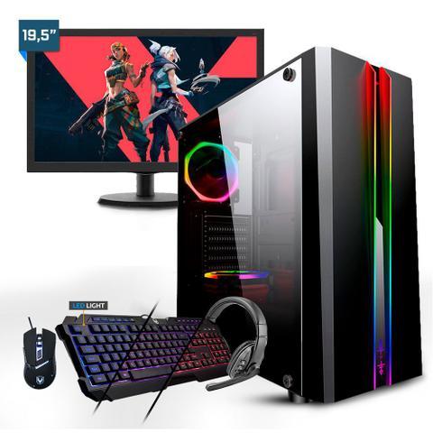 Imagem de Kit - Gamer Smart PC SMT81941 Intel i5 8GB (RX 550 2GB) 1TB + Monitor 19,5