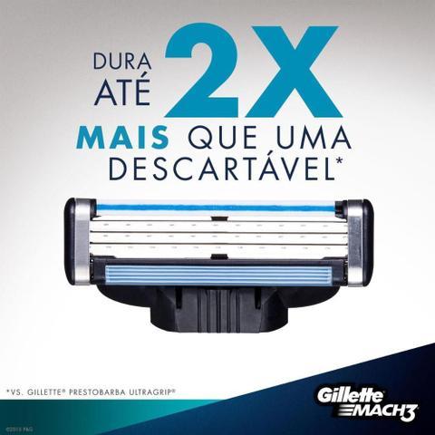 Imagem de Kit Gillette 12 Cargas Mach 3 Regular + Brinde Necessaire Gillette
