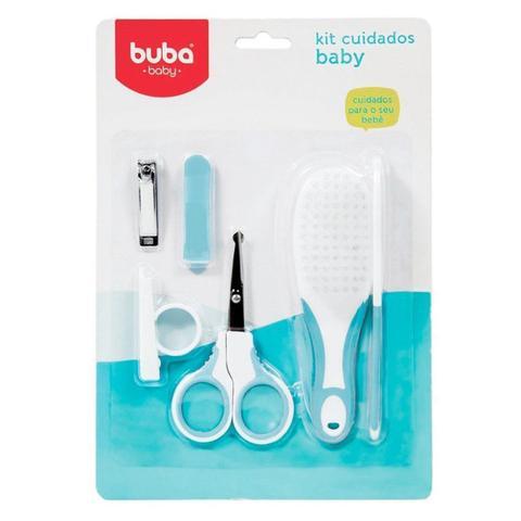 Imagem de Kit Higiene Buba Cuidados para o Bebê Branco Azul