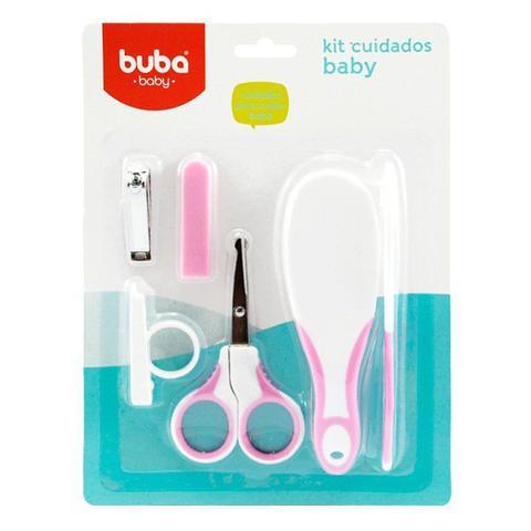 Imagem de Kit Higiene Buba Cuidados para o Bebê Branco Rosa