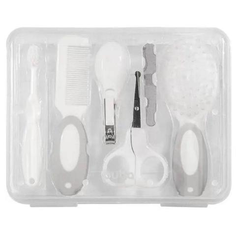 Imagem de Kit Higiene Cuidados para Bebê Tesoura Lixa Cortador Escova Maleta Buba