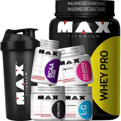 Imagem de Kit Hipertrofia E Definição Muscular Max Titanium