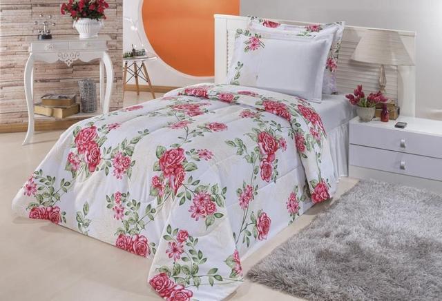 4261556bfe Kit Home Solteiro 02 Peças - Pink - Familie enxovais - Jogo de Cama ...