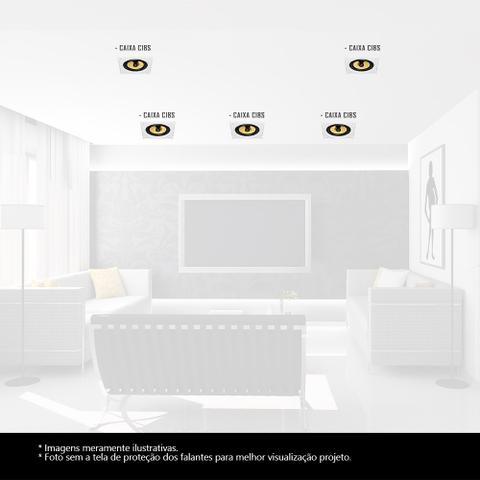 Imagem de Kit Home Theater 5.0 JBL Caixa de Embutir CI8S Residencial Gesso