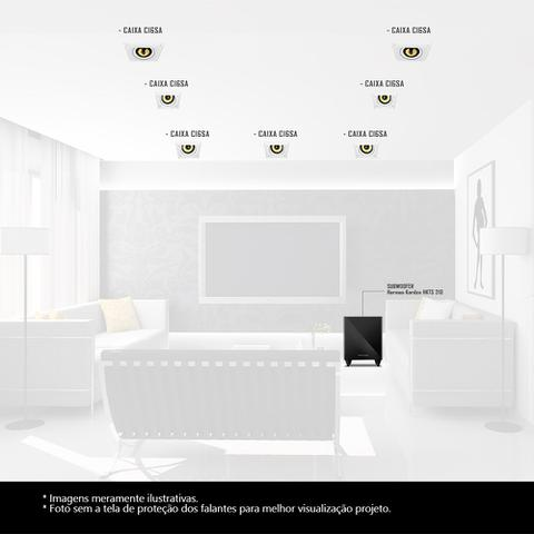 Imagem de Kit Home Theater 7.1 JBL Caixa de Embutir CI6SA + Sub 210 Residencial Gesso