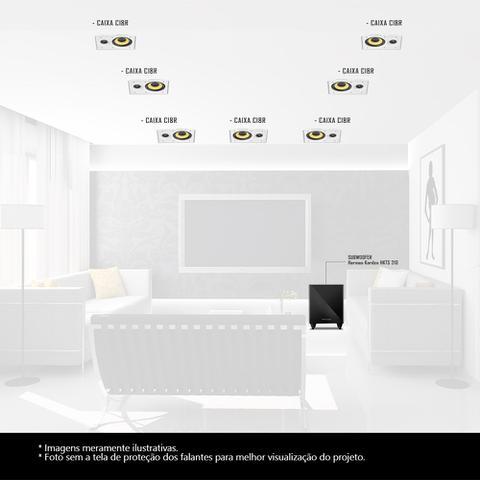 Imagem de Kit Home Theater 7.1 JBL Caixa de Embutir CI8R + Sub 210 Residencial Gesso