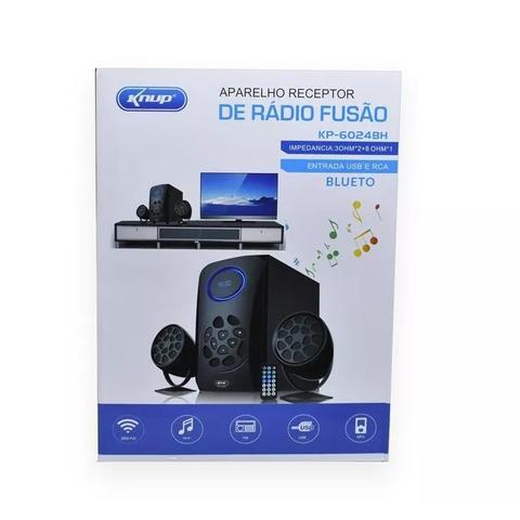 Imagem de Kit home theater bluetooth subwoofer caixa de som led digital radio portatil digital fm usb sd fm bi