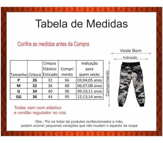 Imagem de kit infantil e juvenil com 03 Calças Moletom Flanelada - Lindas