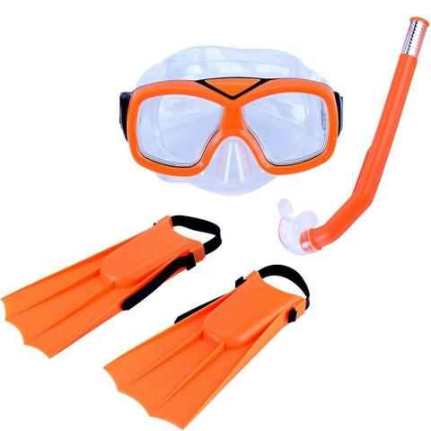 Imagem de Kit infantil para mergulho laranja - Diver